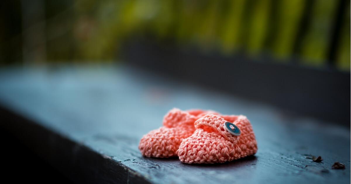 赤ちゃんの靴の画像