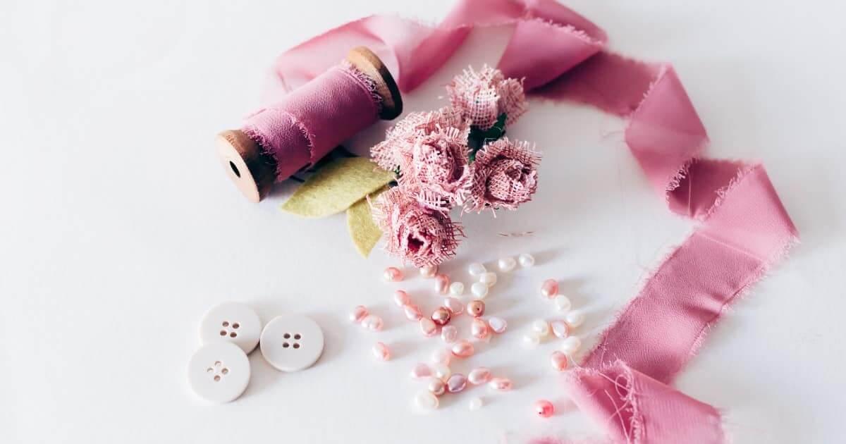 お裁縫の材料の画像
